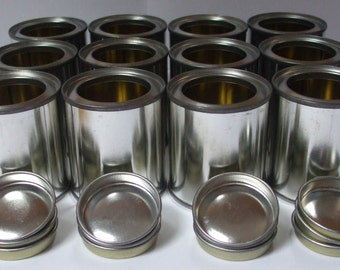 24 x 100ml empty lever lid paint tins, containers. With or without lacquer.