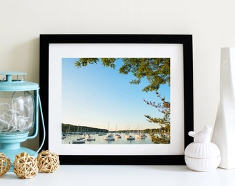 Summer Marina Photo blue sky framed photography