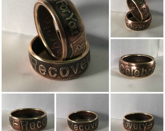 "AA Sobriety ""Celebrate Recovery"" Ring"