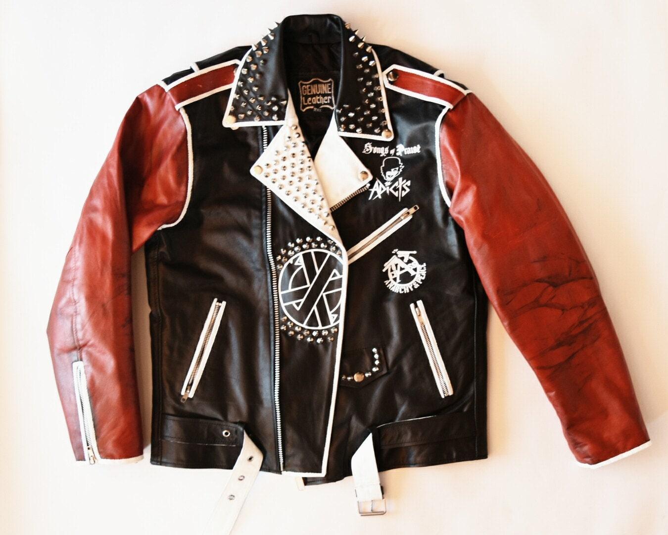 Leather jacket punk - Punk Custom Leather Jacket Punk Custom Leather Jacket Punk Custom Leather Jacket