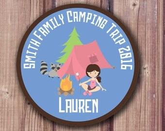 Printable Iron On Transfers, Camping Iron On, Camping Party Shirt, DIY Shirts, Girls Camp Shirt, Scout Shirt, Family Vacation Shirt