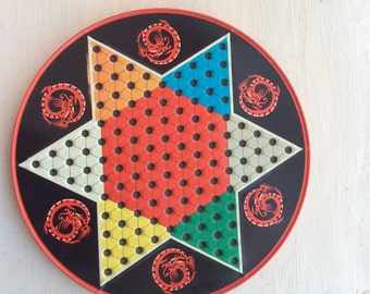 Tin Chinese Checkers game board