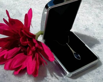 Engraved Silver Chrome Personalised Pendant / Necklace Box / Case