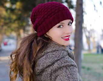 Womens beanies, winter beanie, crochet beanie hat, slouchy beanie hat, chunky beanie, slouchy knit hat, womens knit hats, knit beanie hat