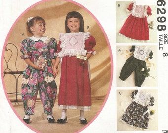 6298 Free Shipping Uncut Factory Folded Vintage McCall's Kitty Benton Gourmet Sewing Girl's Dress  Pattern Size 8 Children's Sewing Pattern