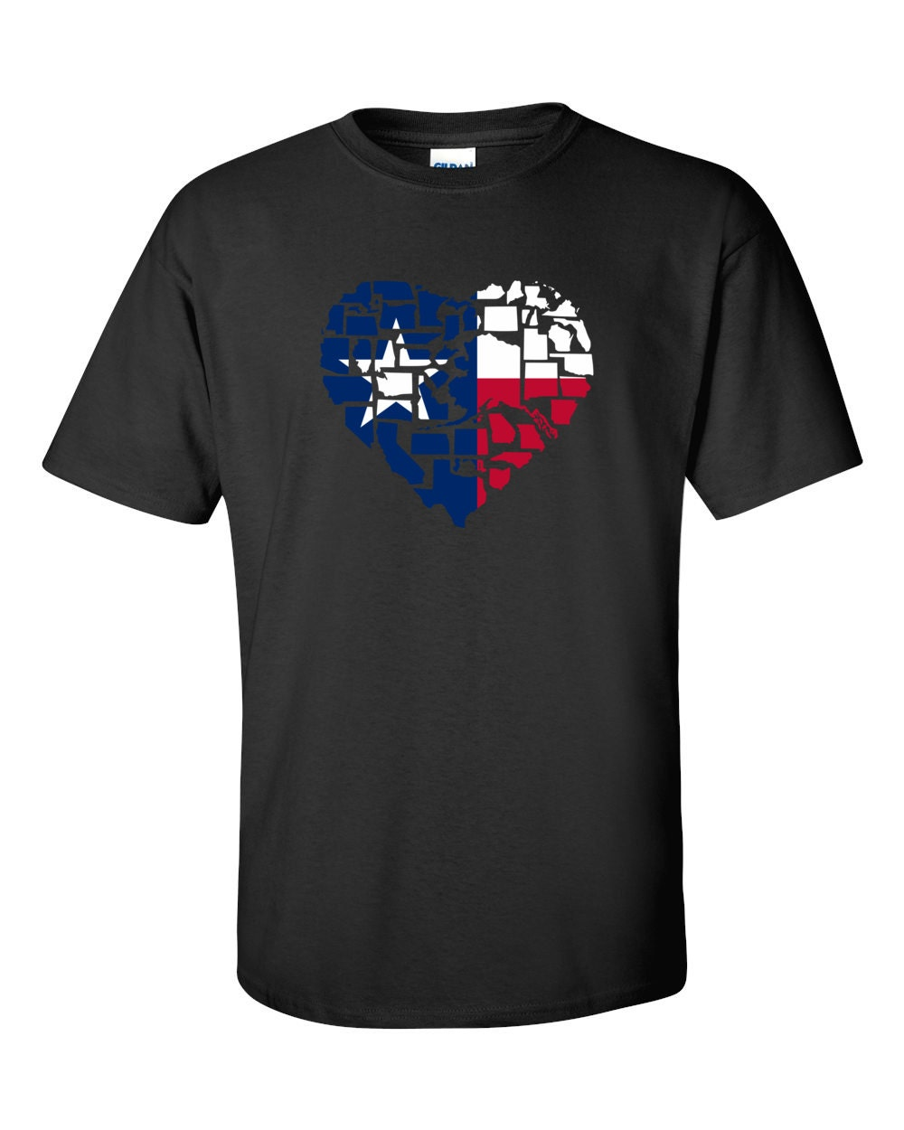 Texas T-shirt - No Matter Where I Am, Texas Is Alway In My Heart - My State Texas T-shirt