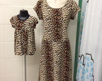 2 pcs set mommy and baby matching dresses