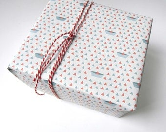 Decorative wrapping paper/paper» paper boats»