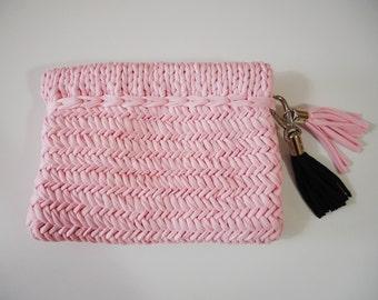 Final Sale || Wool and the Gang | Sugar Sugar Clutch | Hold Tight Clutch | JERSEY BE GOOD | Fabric Clutch | Knit Clutch | Handbag | Purse