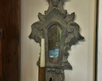 Hand Carved Architectual Sconce