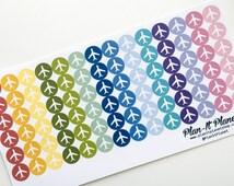 Airplane Travel Stickers Erin Condren Colors