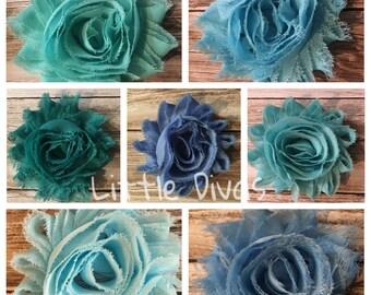 Shabby chic flower hair clip - flower clip - hair clip - shabby flower clip - rosette flower - rosette flower clip - flower hair flower