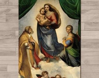 Raphael print: Sistine Madonna - Madonna di San Sisto. A4 - 210mm x 297mm