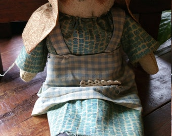 Vintage Country Rag Doll