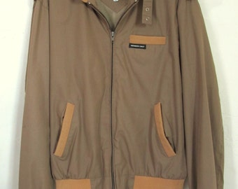 A Men's,Vintage 70s Faded Brown,Miami Vice era MEMBER'S ONLY Cafe Racer  Jacket.L