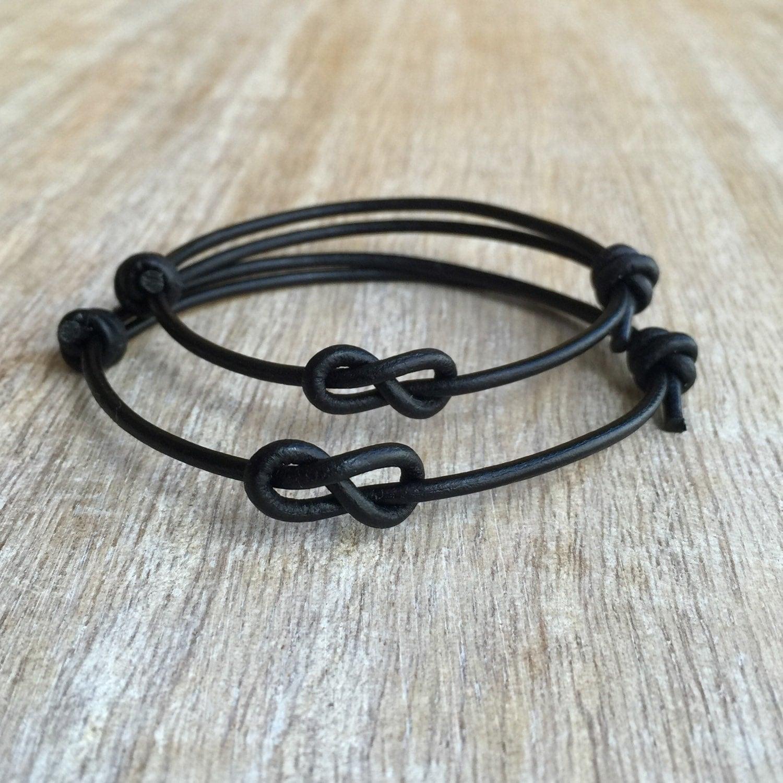 simple bracelet black leather bracelets couple bracelets