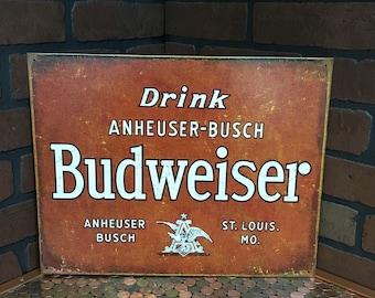 Vintage look Budweiser Tin Sign