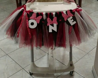 Minnie Mouse highchair tutu