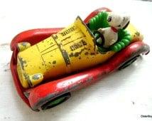 Vintage Snoopy Car, Aviva Toy Snoopy Car, Aviva Car, Yellow Snoopy Aviva Car,  Collectible Snoopy Cars D00