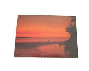 Philippines Sunset Postcard Paper Ephemera Used Vintage Postcard Philipines Postcard Vintage Sunset Postcard Water Postcard 1990's