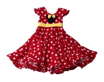 Disney Theme Minnie Mouse Custom Boutique Pageant Dress... Sizes available 12M-14 girls
