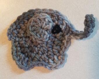 Elephant/Crochet Elephant/Crocheted Elephant Magnet/Animal Magnet