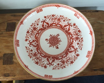 Antique Minton Soup Plate/Bowl Classic Greek Key Pattern c. 1880