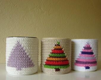 Crochet pattern Christmas tree mug cozy | crochet pattern Christmas | mug cozy Xmas | crochet pattern cup cozy | Xmas tree | coffee sleeve