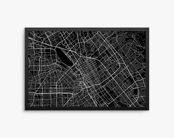San Jose City Street Map, San Jose California USA, Modern Art Print, Office Decor, Decor, San Jose Decor, San Jose Map, San Jose Poster