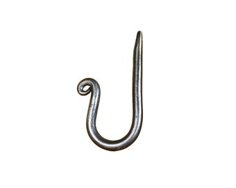 Hand Forged Coat or Hat Hook - Round Bar - Single