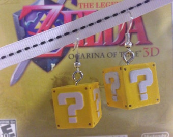 Nintendo Super Mario Question Block earrings