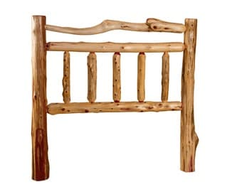 Rustic Red Cedar Log Bed- FULL Size - Mission Style -*HEADBOARD ONLY* Amish Made
