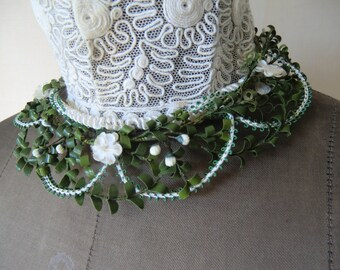 Vintage Bridal jewelry bridal wreath and Posy french shabby chic