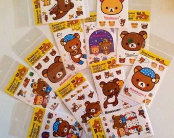 Rilakkuma stickers, kawaii stickers