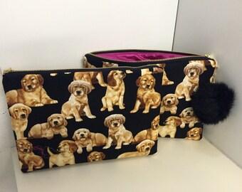 Lab puppy accessory tote