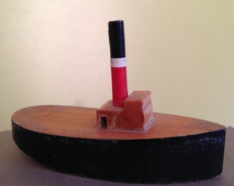 Toy boats, miniture toy boats,toy tug boat,art toys.
