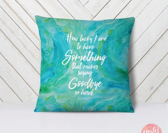 Deep Love Quote Mermaid Watercolor Valentine's Day - Throw Pillow Case, Pillow Cover, Home Decor - TPC1165