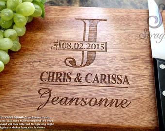 Engraved Cutting Board, Custom Cutting Board, Personalized Cutting Board, Wedding Gift, Housewarming Gift, Corporate Gift,  Promotion. 003