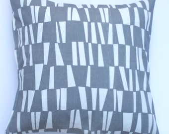 """Grey with White Sticks 20"""" x 20"""" Pillow Cover"""