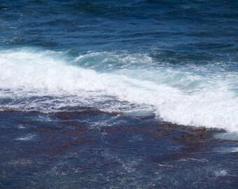 Ocean Print Waves, blue ocean print, Abstract ocean photo ocean blue white nautical photography 8 x10 6 x 8 wall decor beach photography