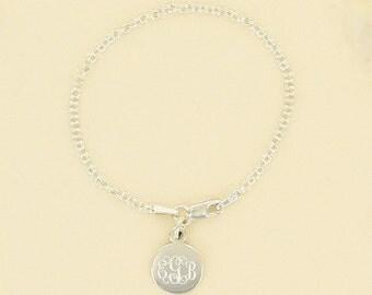 Engraved Children's Sterling Silver Bracelet