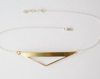 Triangle Statement Necklace, Large Triangle Necklace