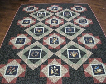 Country primitive quilt