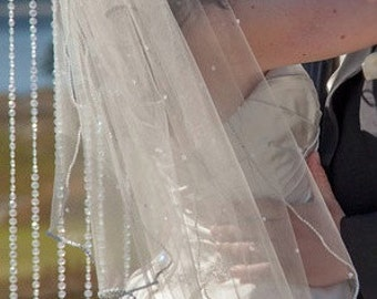 Wedding Veil with Swarovski Crystals Handmade
