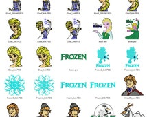 43 Frozen Embroidery Designs