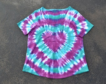 Ladies Tie Dye T-shirt, Plus Sizes 16 - 26, Custom Made