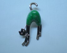 CUTE Vintage 1950s Jelly Belly Kitty Cat Pin Brooch MEEEEOOOOWWWW