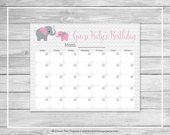 elephant baby shower guess baby s birthday printable baby shower