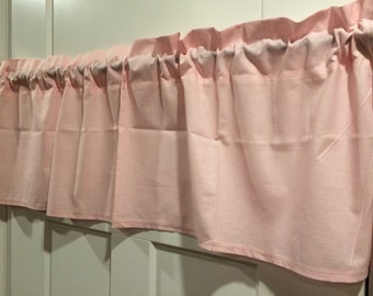 Solid Pale Pink Nursery Curtain Valance