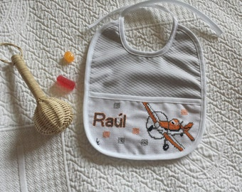 Custom cross stitch bibs